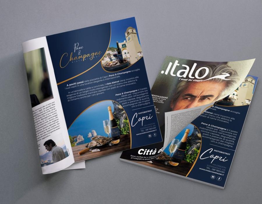 PUBBLICITA' SU MAGAZINE ITALO TRENO – GIUGNO 2019